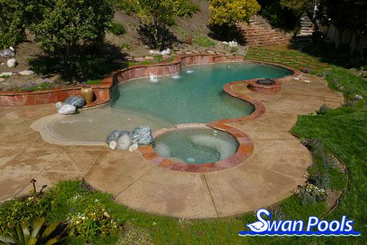 Swimming Pool Oasis : Swan pools swimming pool gallery desert oasis