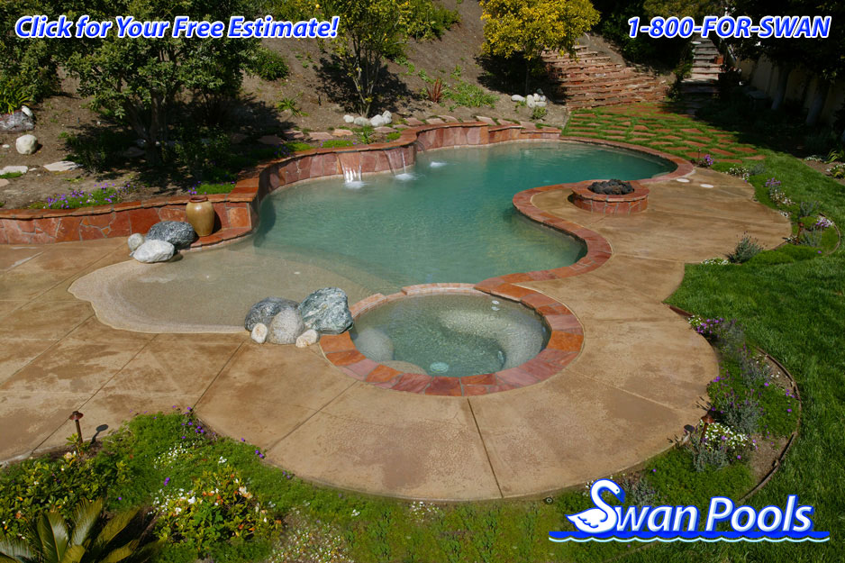 Swan pools 39 swimming pool gallery desert oasis for Pool design estimator