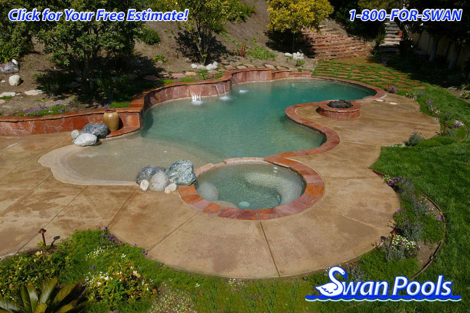 Swan pools 39 swimming pool gallery desert oasis for Swimming pool oasis