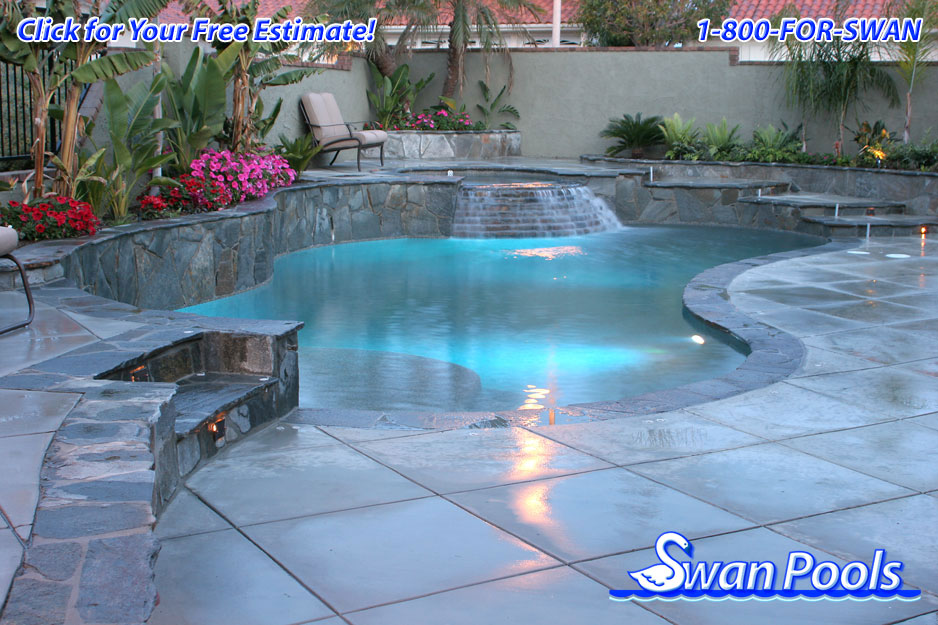 Swan pools 39 swimming pool gallery lackie for Pool design estimator