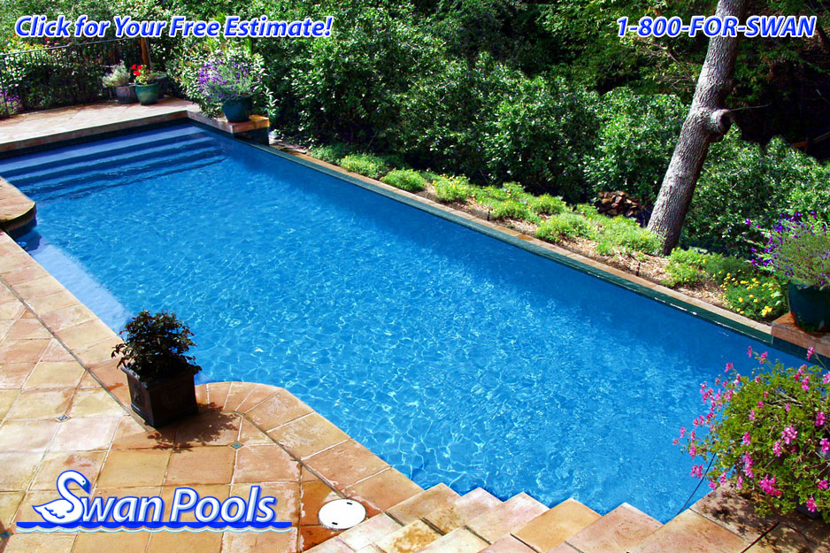 Swan pools 39 swimming pool gallery mediterranean oasis for Pool design estimator