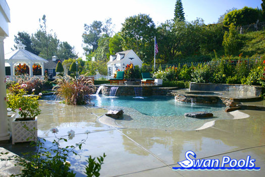 Swimming Pool Design Gallery - Swan Pools Custom Designs - A ...