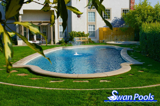 Swimming pool design gallery swan pools custom designs for Pool design graphic