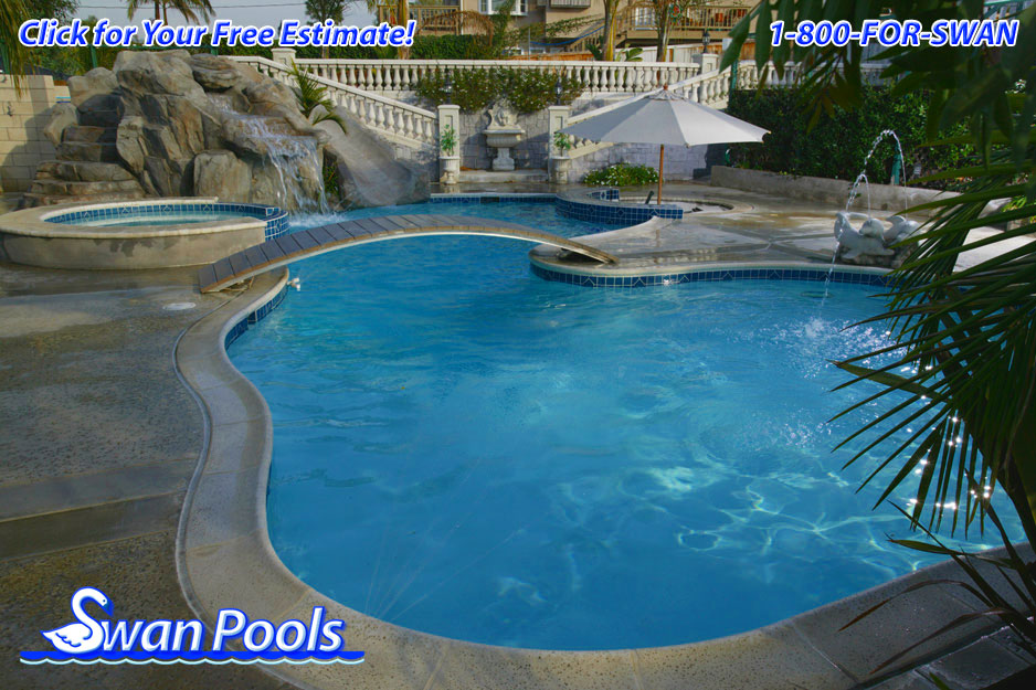 Swan pools 39 swimming pool gallery a private resort for Pool design estimator
