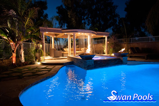 Swan pools custom designs swimming pool design gallery for Pool design company radom