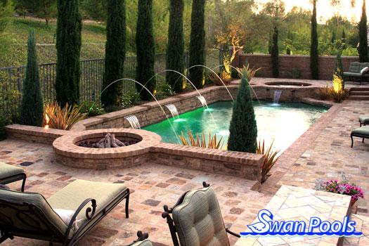 Swan pools custom designs swimming pool design gallery for Pool design company polen