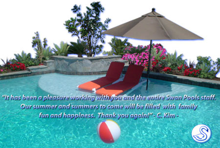 Swan Pools is a swimming pool contractor that has been innovating, working magic, and building trust with their customers and clients since 1954.  Please help us celebrate our 50th year anniversary and take a tour of our award winning, custom swimming pool designs.